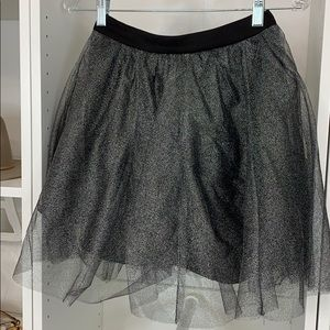 Design Lab Lord & Taylor Metallic Tulle Skirt
